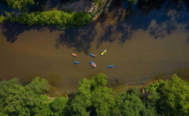 Kayaks Floating Aerial