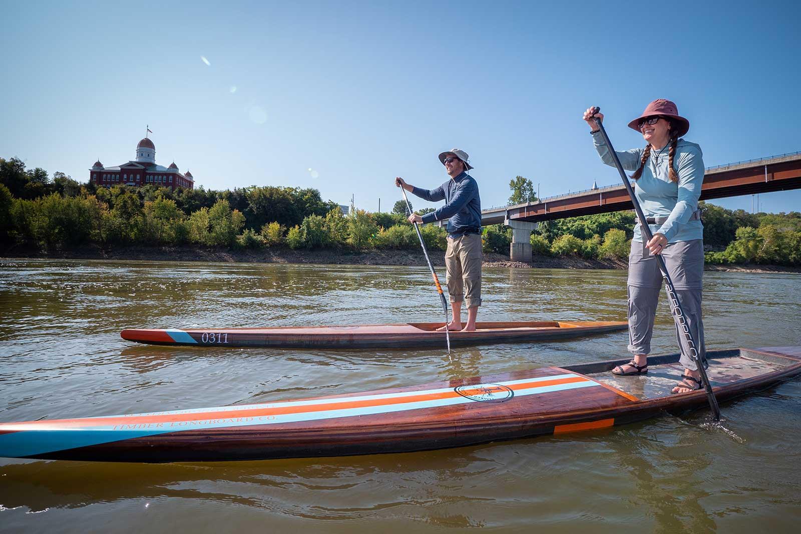 Paddleboarding Couple